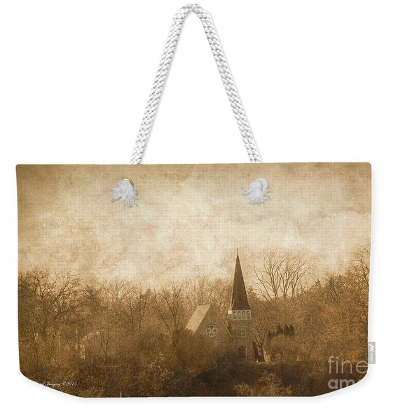 Old Church On A Hill  Weekender Tote Bag