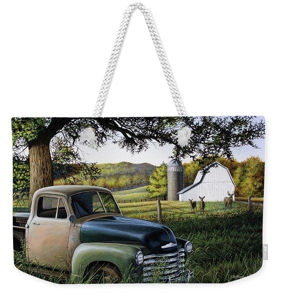 Old Farm Truck Weekender Tote Bag