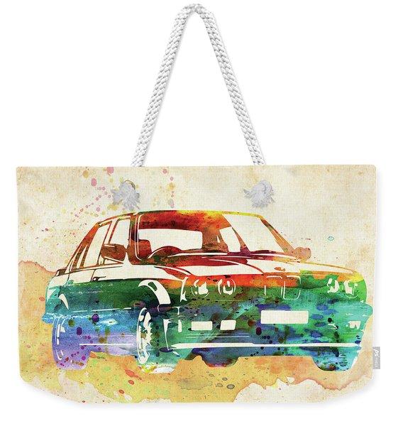 Old Ford Mustang Watercolor,  Weekender Tote Bag