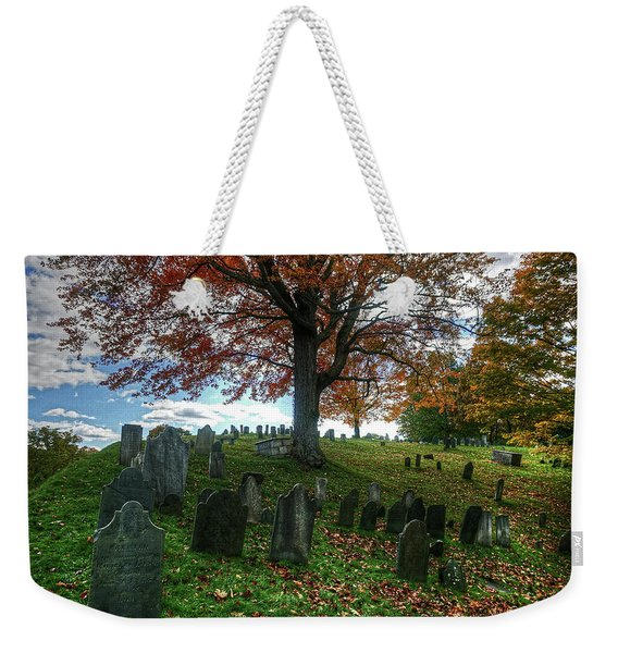 Old Hill Burying Ground In Autumn Weekender Tote Bag