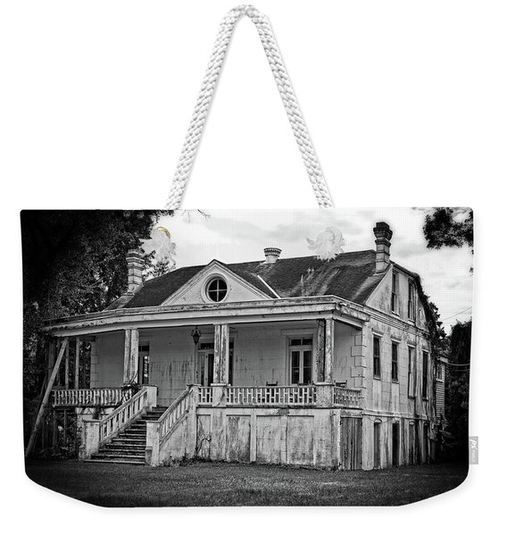 Old House Black And White Weekender Tote Bag