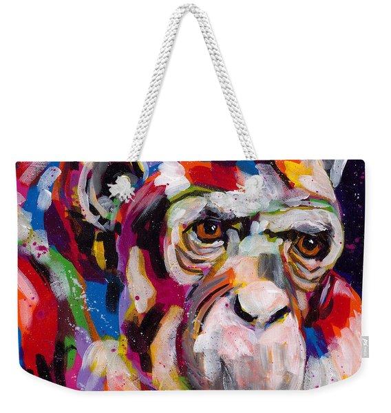 Old Man Chimp Weekender Tote Bag