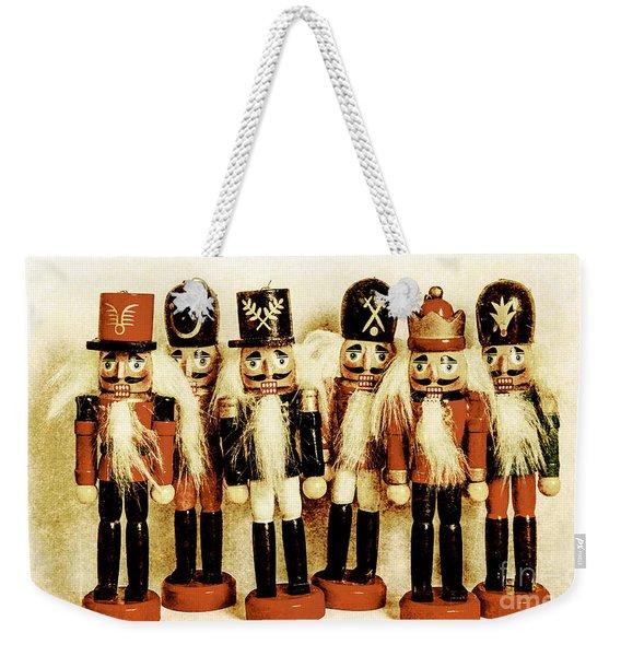 Old Nutcracker Brigade Weekender Tote Bag