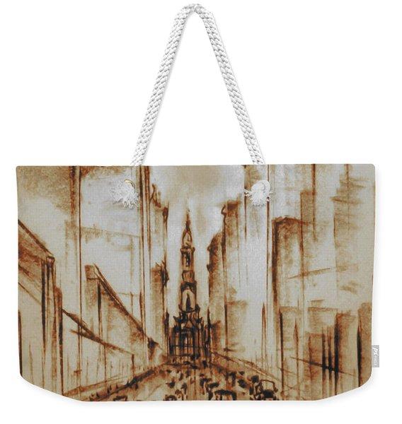 Old Philadelphia City Hall 1920 - Pencil Drawing Weekender Tote Bag