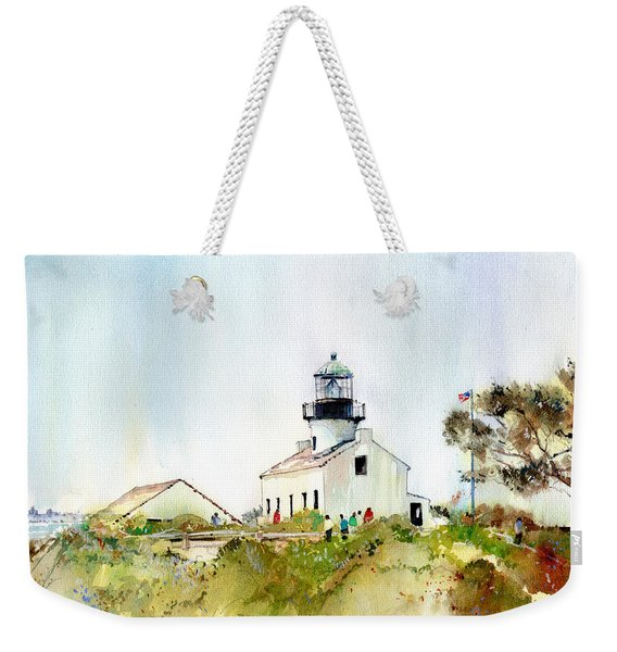 Old Point Loma Light Weekender Tote Bag