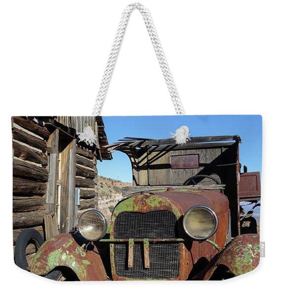 Old Rusty Truck Gold King Ghost Town Weekender Tote Bag