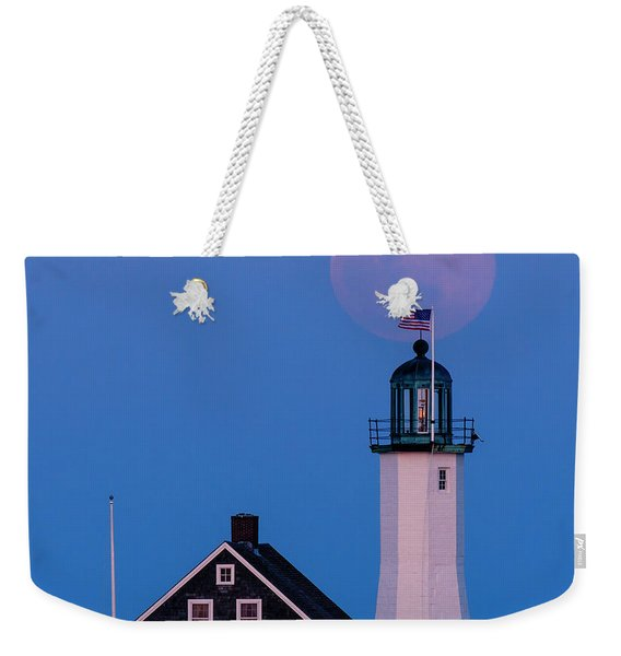 Old Scituate Light Weekender Tote Bag