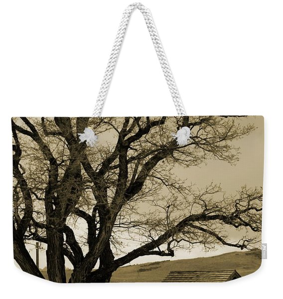 Old Shanty In Sepia Weekender Tote Bag