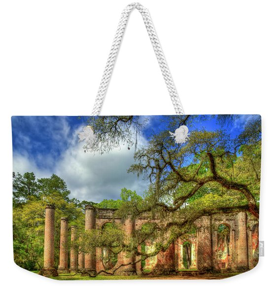 Old Sheldon Church Ruins 4 Beaufort South Carolina Historic Art  Weekender Tote Bag