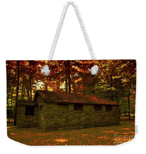 Old Stone Structure Weekender Tote Bag