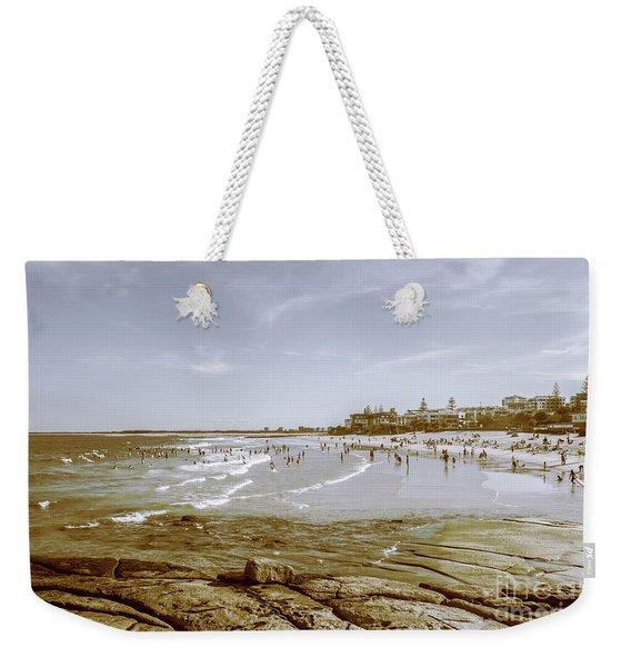 Old Sunshine Coast Bathers Weekender Tote Bag