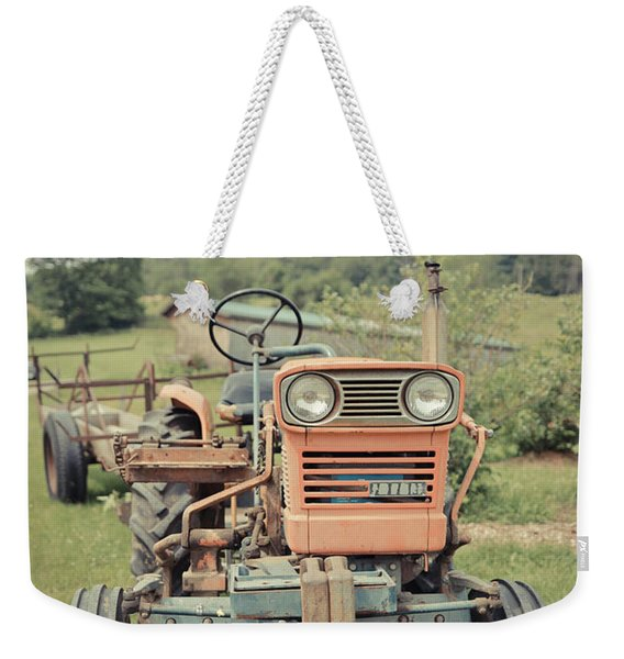Old Vintage Tractor On A Vermont Farm Weekender Tote Bag