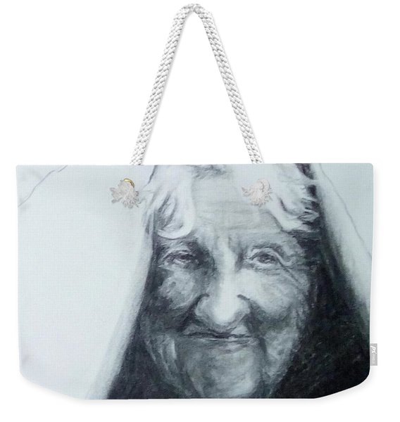 Old Woman Weekender Tote Bag