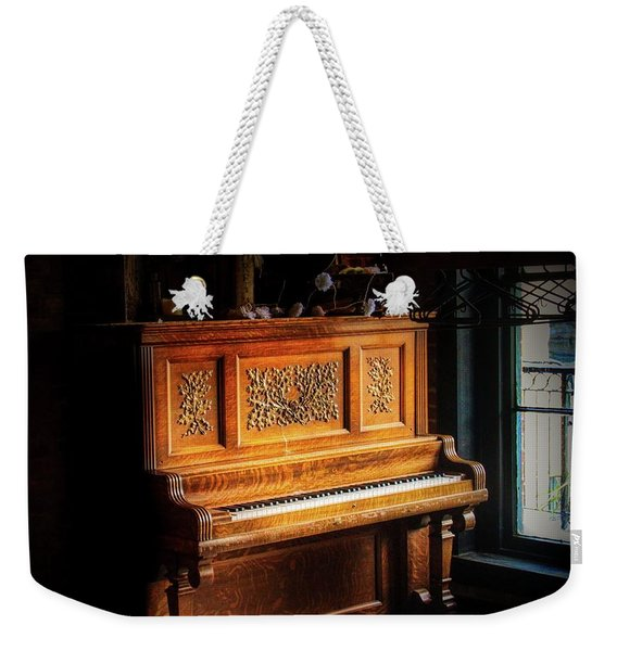 Old Wooden Piano Weekender Tote Bag