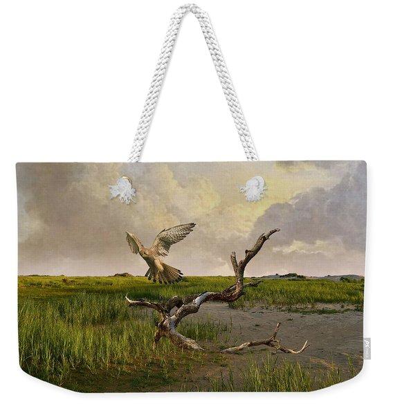 Old World Kestrel At Dawn Weekender Tote Bag
