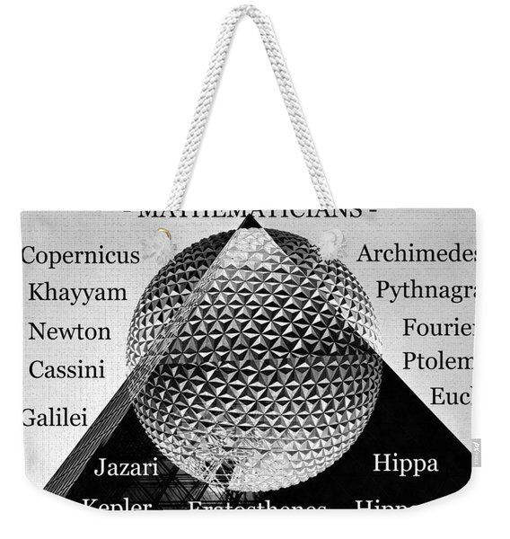 Old Masters Of Mathematics,  Weekender Tote Bag