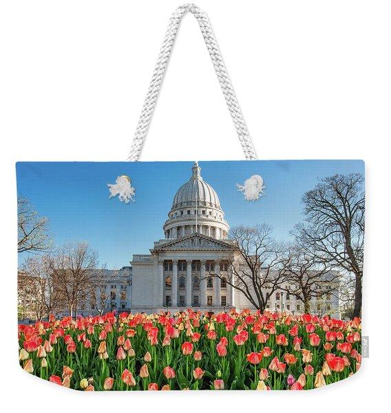 On A Bed Of Tulips Weekender Tote Bag