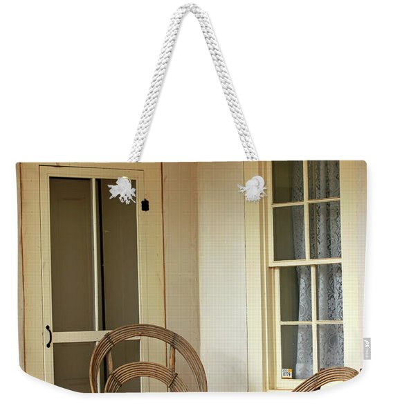 On Doc Woods' Porch Weekender Tote Bag