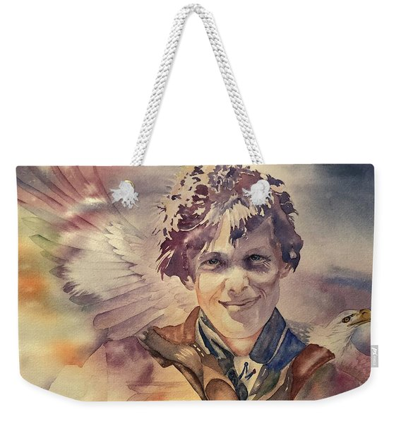 On Eagles Wings Weekender Tote Bag