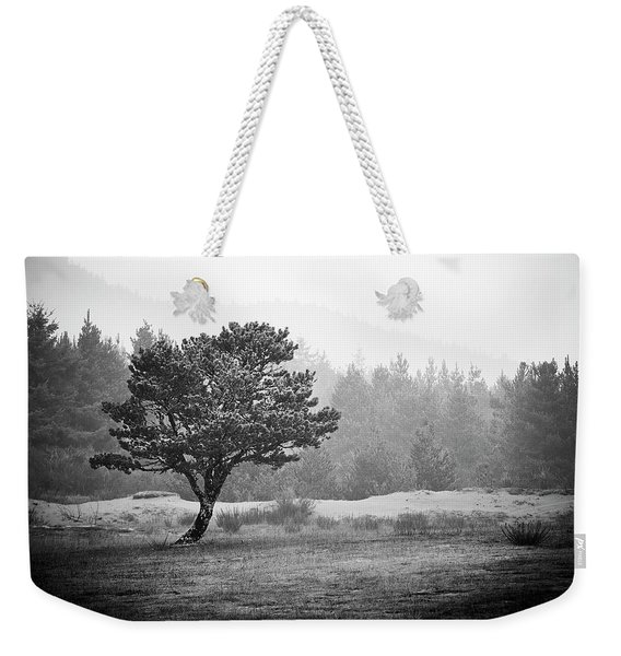Weekender Tote Bag featuring the photograph On My Own by Whitney Goodey