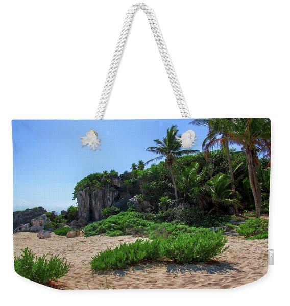 On The Coast Of Tulum Weekender Tote Bag