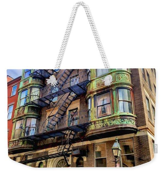 On The Corner Weekender Tote Bag