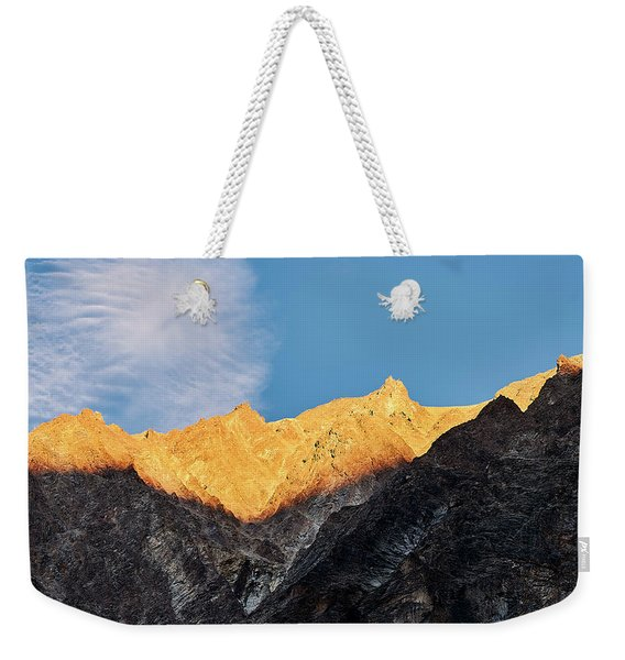 Weekender Tote Bag featuring the photograph On The Ridge by Whitney Goodey