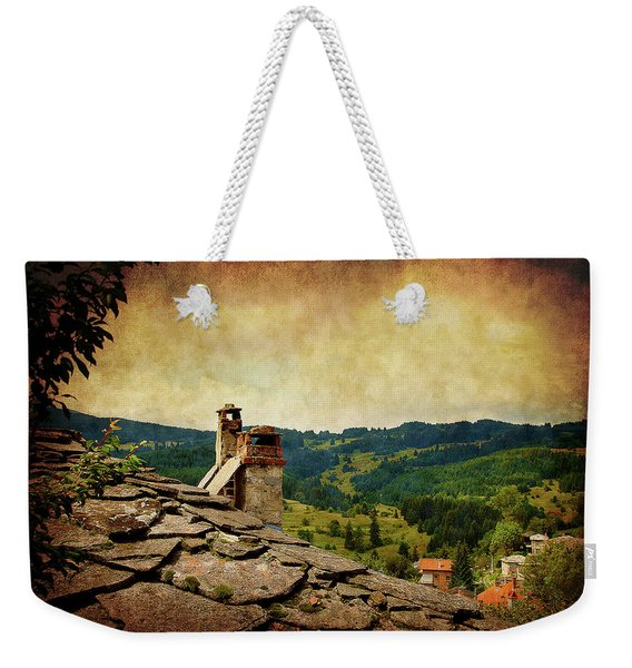 On The Top Of The Mountain Weekender Tote Bag