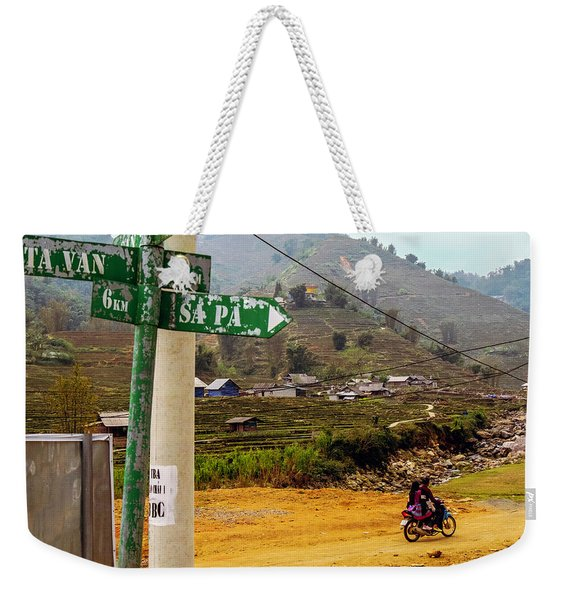 On The Way To Sapa, Vietnam Weekender Tote Bag
