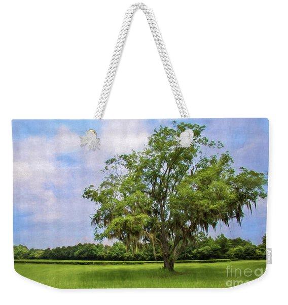 One Solitary Tree Painted Weekender Tote Bag