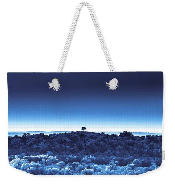 One Tree Hill - Blue - 3 Weekender Tote Bag