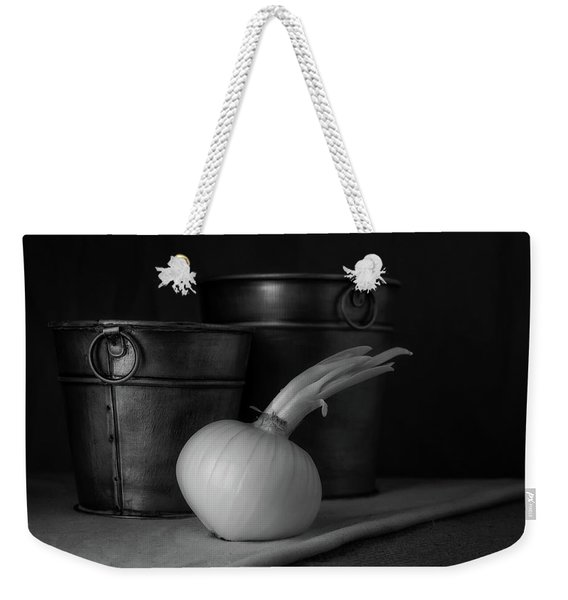 Onion In Black And White Weekender Tote Bag