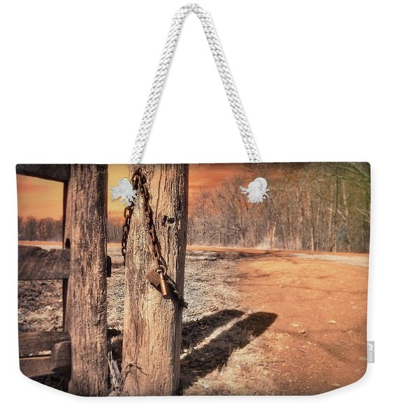 Open Locked Weekender Tote Bag