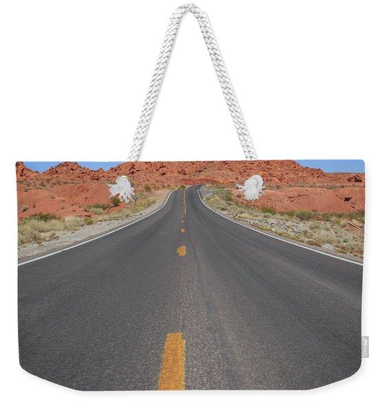 Open Road Valley Of Fire Weekender Tote Bag