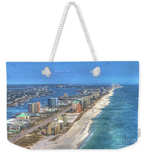 Orange Beach East Weekender Tote Bag
