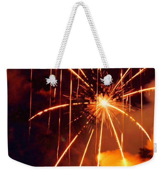 Orange Fireworks Weekender Tote Bag
