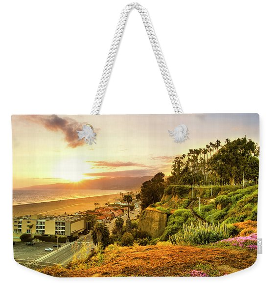 Orange Haze At Sunset Weekender Tote Bag