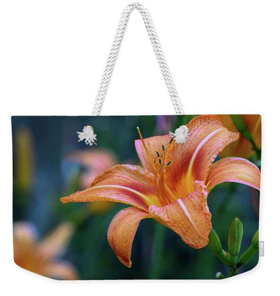 Orange Lily Detailed Petals Weekender Tote Bag