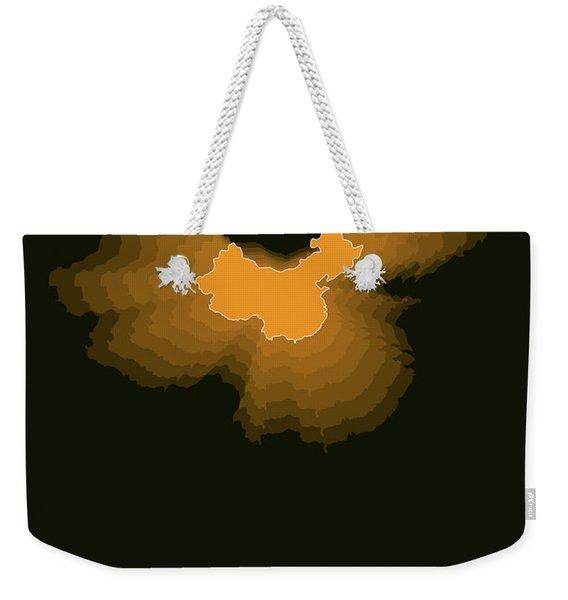 Orange Map Of China  Weekender Tote Bag