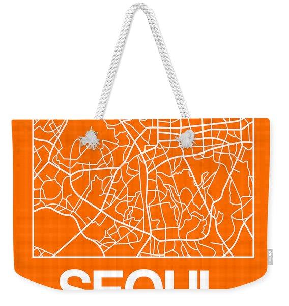 Orange Map Of Sao Paulo Weekender Tote Bag