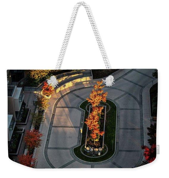 Orange Trees In Autumn Weekender Tote Bag
