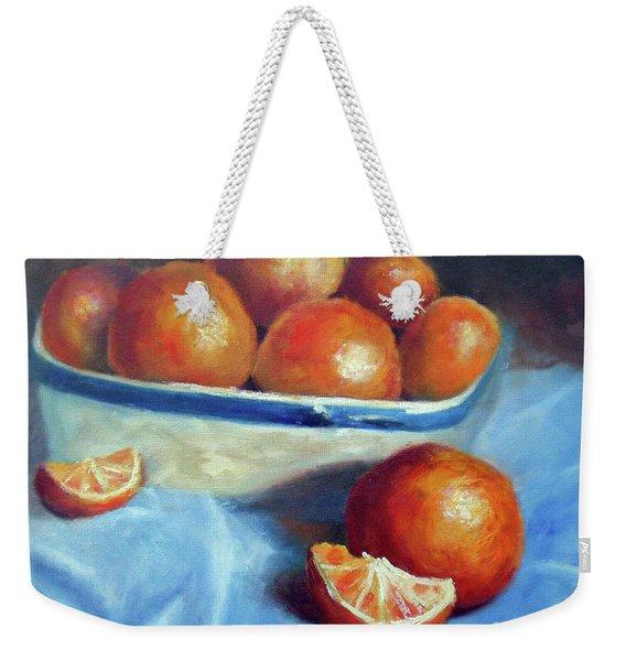 Oranges And Blue Weekender Tote Bag