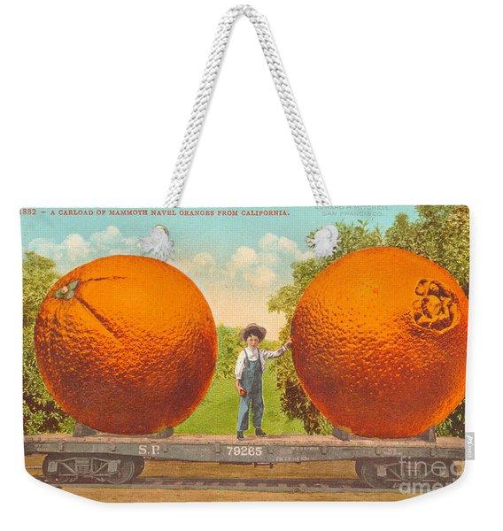 Oranges Of California Weekender Tote Bag