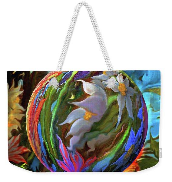 Orbing Aloha Lei Weekender Tote Bag
