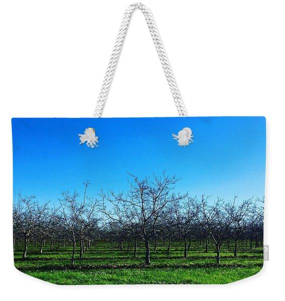 Orchard Trees In Blue Weekender Tote Bag