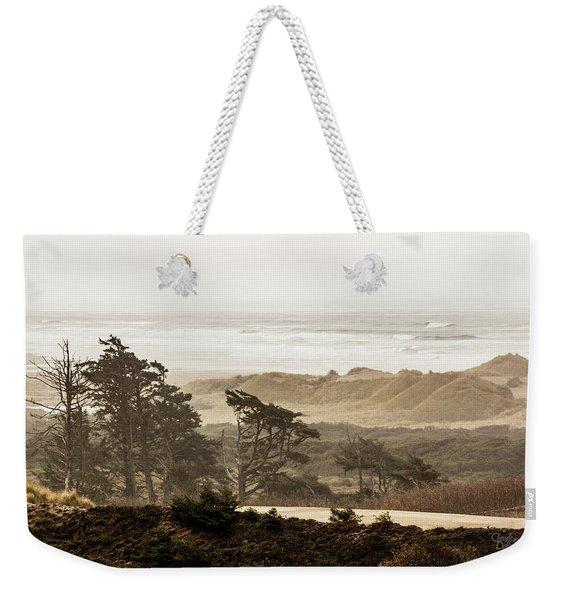 Oregon Waterfront Weekender Tote Bag