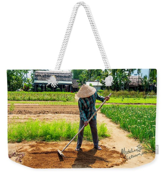 Organic Farmer In Hoi An, Vietnam Weekender Tote Bag
