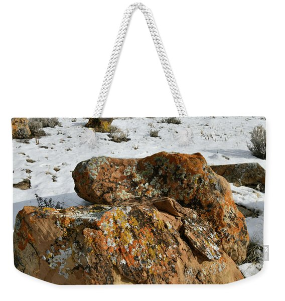 Ornate Colorful Boulders In The Book Cliffs Weekender Tote Bag
