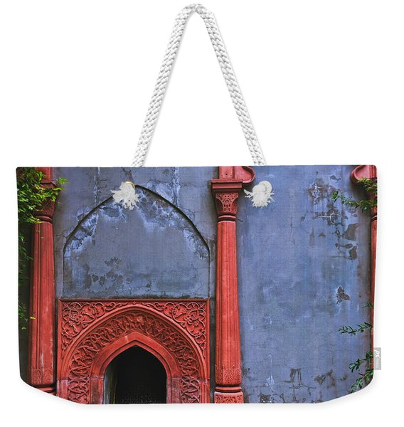 Ornate Red Wall Weekender Tote Bag