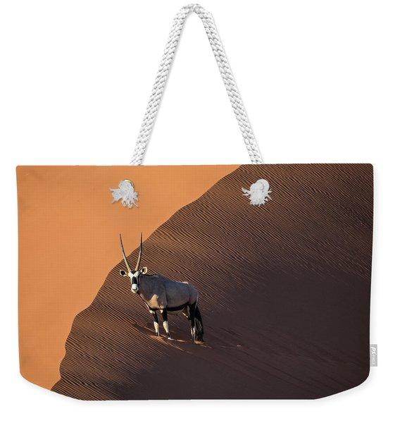 Oryx On The Edge, Namibia Weekender Tote Bag